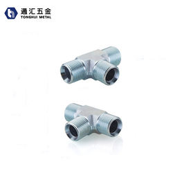 Forged Stainless Steel Hydraulic Fittings, 4 Inch Stainless Steel 90 Degree Tee, Forging Steel Pipe Adapter