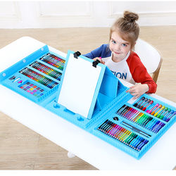 176pcs art set with essel gift set for kids