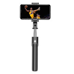 2020 new handle tripod 2 in 1 scalable mini flexible wireless bluetooth selfie stick for smartphone