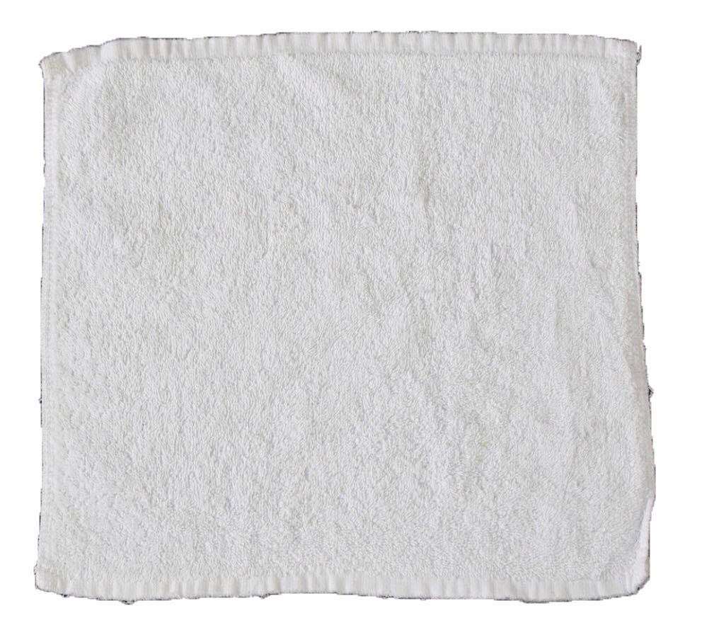 Pure white square cheap shop cleaning wipes 100% cotton towel rags