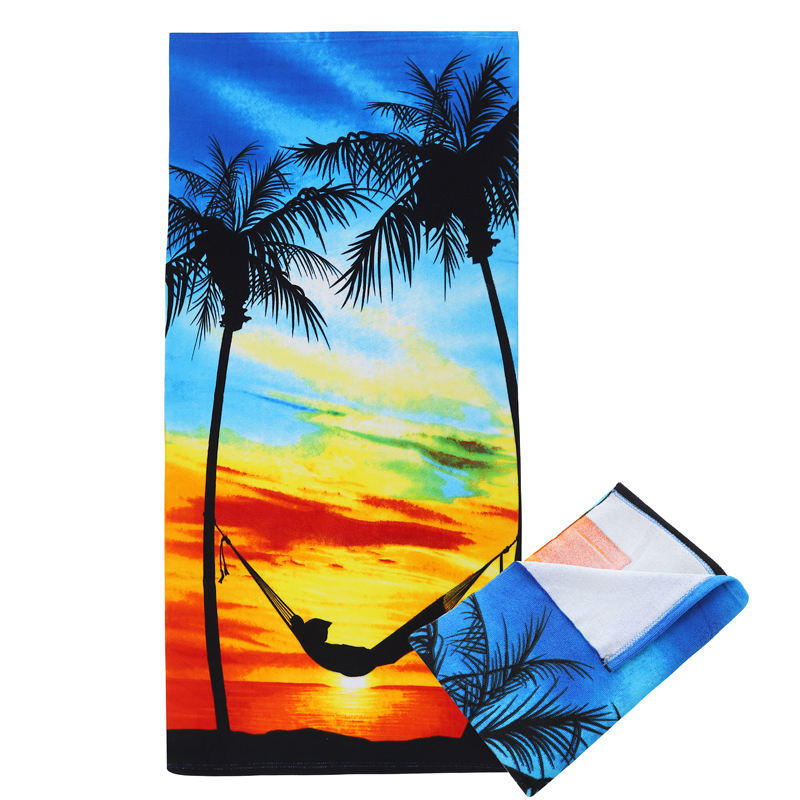 A Large Fresh Stock Hot Selling Dry Quickly Microfiber 100% polyester Beach Towel