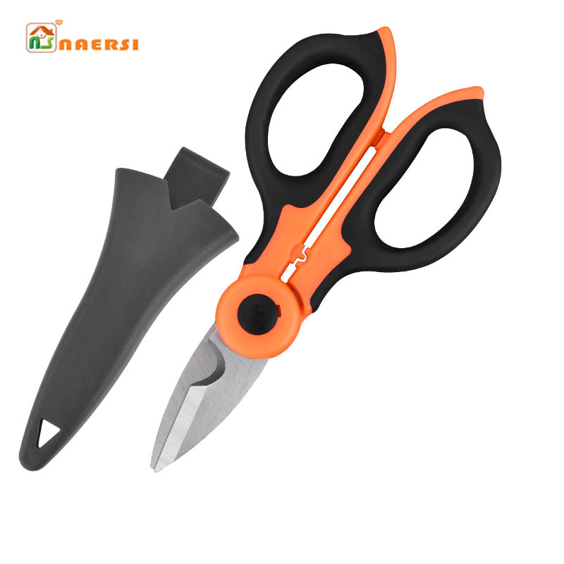 multifunction electrician Stainless steel plastic handle scissors wire cutter wire cable cutting scissors Engineering scissors