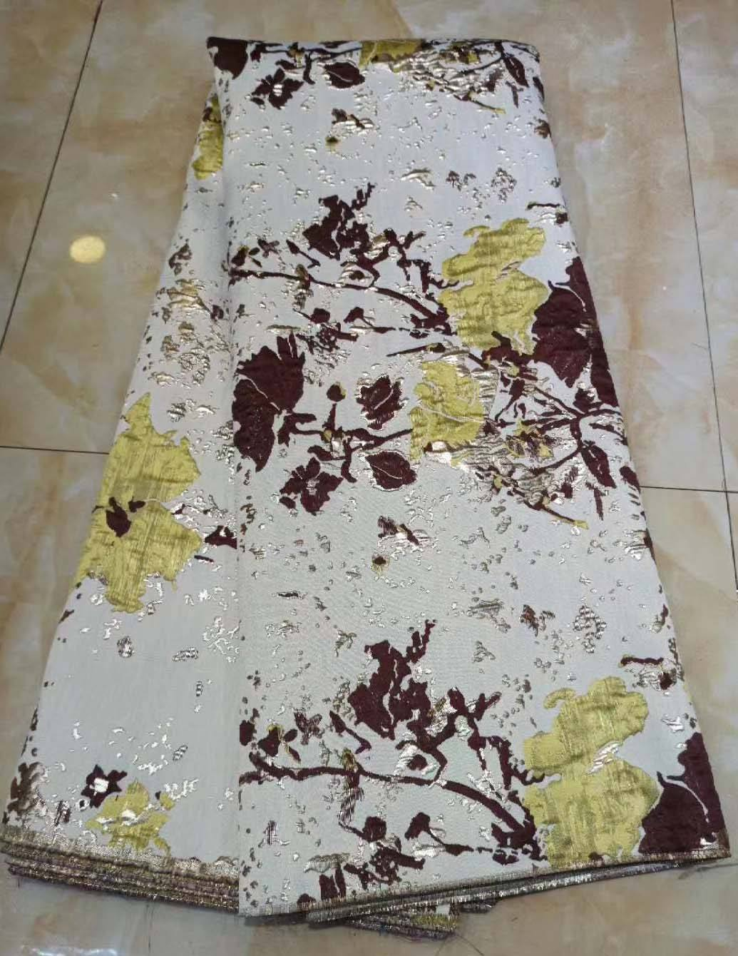 2020 New Design African Brocade Lace Fabric Soft Jacquard Brocade Lace