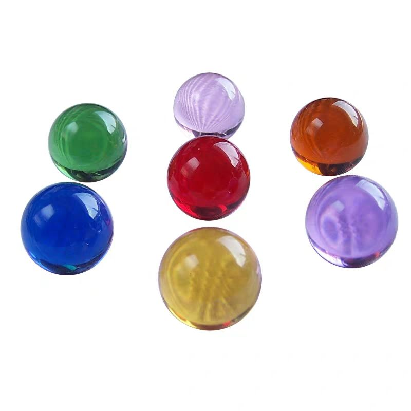 Clear blue yellow green pink purple red solid glass balls marble