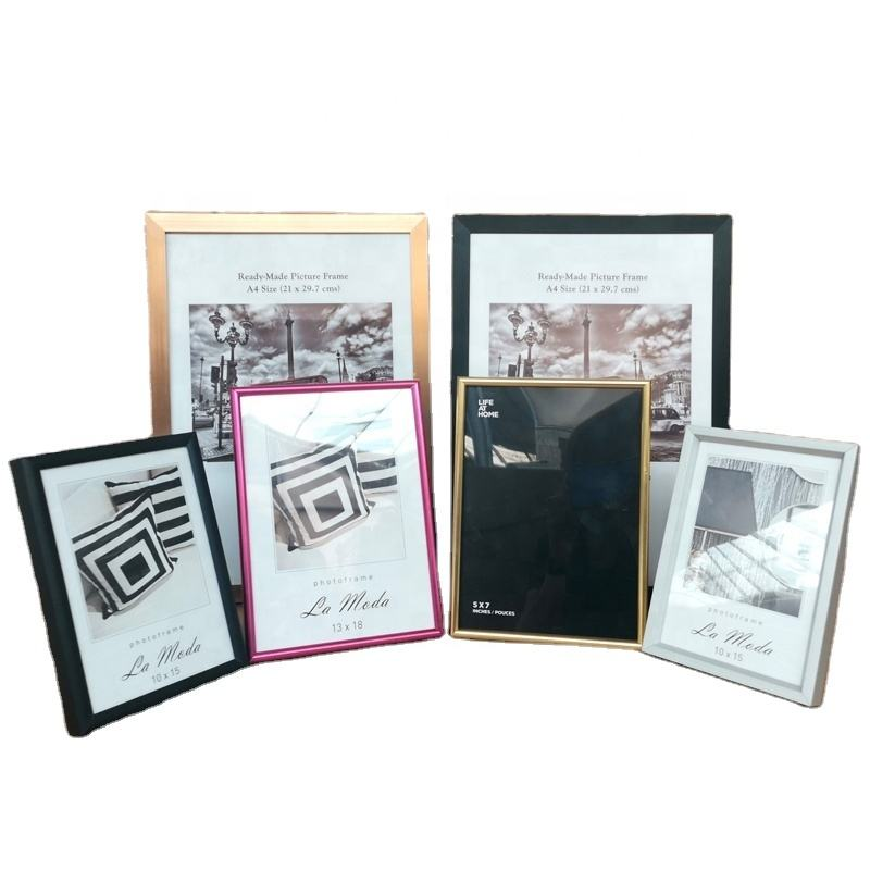 Wholesale Aluminium photo frame metal picture photo frame gold silver black 4x6 5x7 8x10 A4