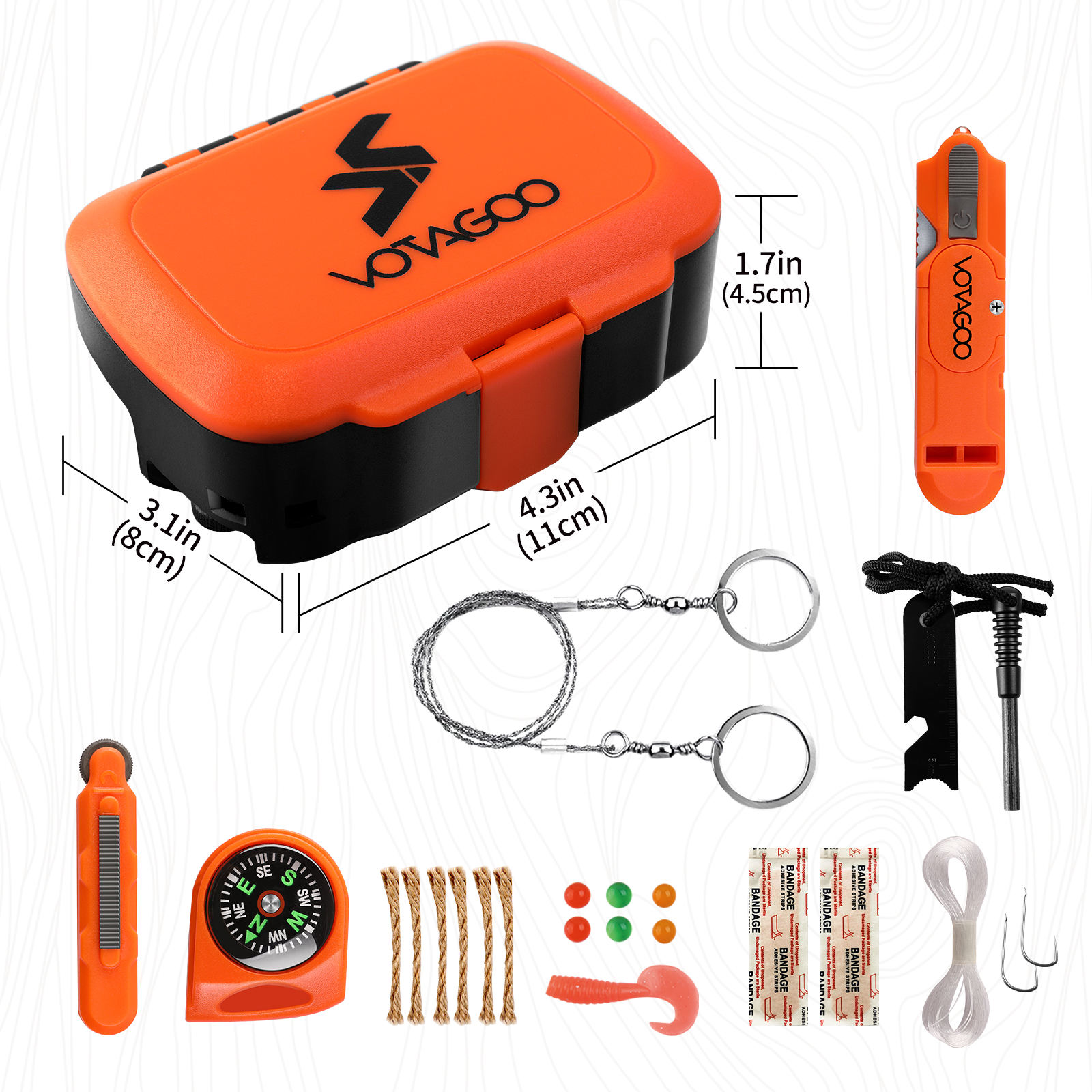 Emergency Survival Kit 13 in 1 Outdoor Professional Gear Tactical Equipment EDC Tool for Camping, Hiking, Climbing