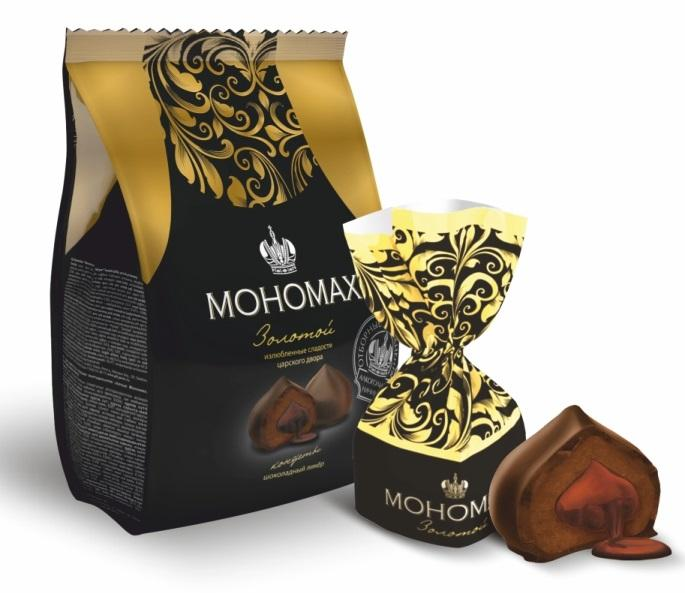 "Chocolate candy, with liquid filling ""Monomakh"""