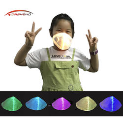 2020 New Technology Novelty Led Light Up Reusable Face Mask With Filter For Kids