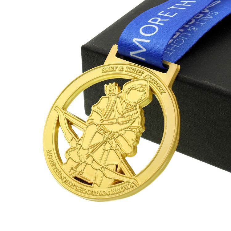 For Souvenir [ Gold Medal ] Medal Promotional Custom Wholesale Stamped Gold Medal
