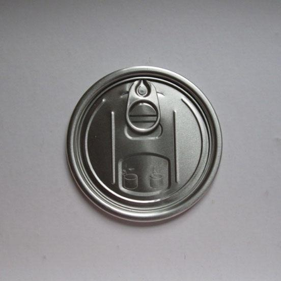 300 EOE Easy Open Door Lid 73MM BPA Free Food Lacquer Can Aluminium Top Closure Easy Open End
