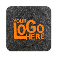 5mm colorful felt personalized custom shape logo drink coaster with fast lead time