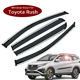 Acrylic+Plastic Electroplating car window rain-shield sun shade window visor applicable to Toyota Rush