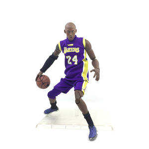 Kobe Bryant 1/9 Action Figure, No.24 Paars Kobe 3D Basketbal Speler Ornament, Figurine Model Aangepaste