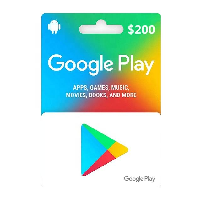 $50 $100 $200 Google Play Gmail Account (Email Delivery - US Only)