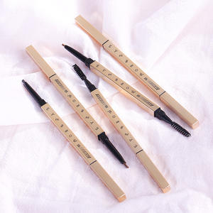 thin with brush white brow custom with brush microblading waterproof private label eyebrow pencil