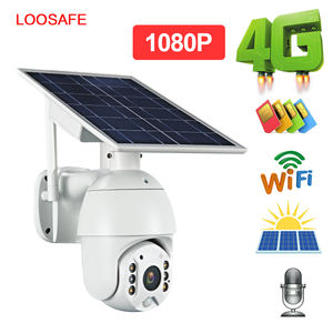 Loosafe Innovativa Unica PTZ Wireless Outdoor Solar Powered Macchina Fotografica del IP di Wifi di Sicurezza Della Batteria 4G SIM card