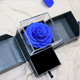 Manufacturers wholesale real touch roses everlasting flower gift Rose 6-7cm acrylic head jewelry gift box