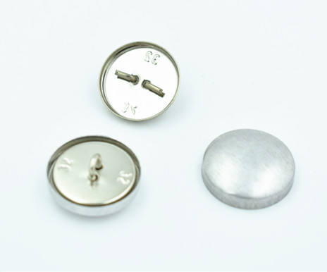 Sample Free 32L Aluminum Self Cover Button with Wire Shank Back