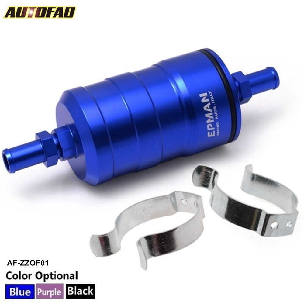 AUTOFAB - EPMAN Racing Fuel Filter Competition 10 Micron Paper Filter Complete For Subaru Forester LEGACY Honda CIVIC EP-ZZOF01