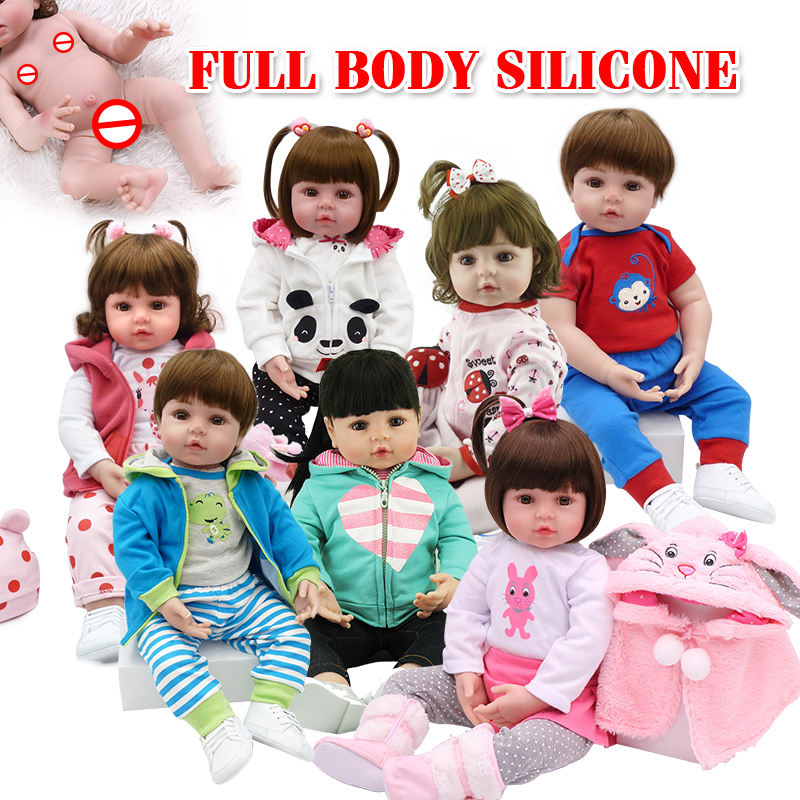 2020 NPK 18inch hot sell Silicone Handmade silicon material life-like cute silicone reborn baby doll for hot sale