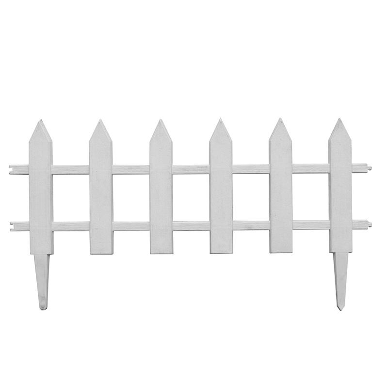 Wholesale decorative factory price PVC Garden small mini plastic mini fence for garden