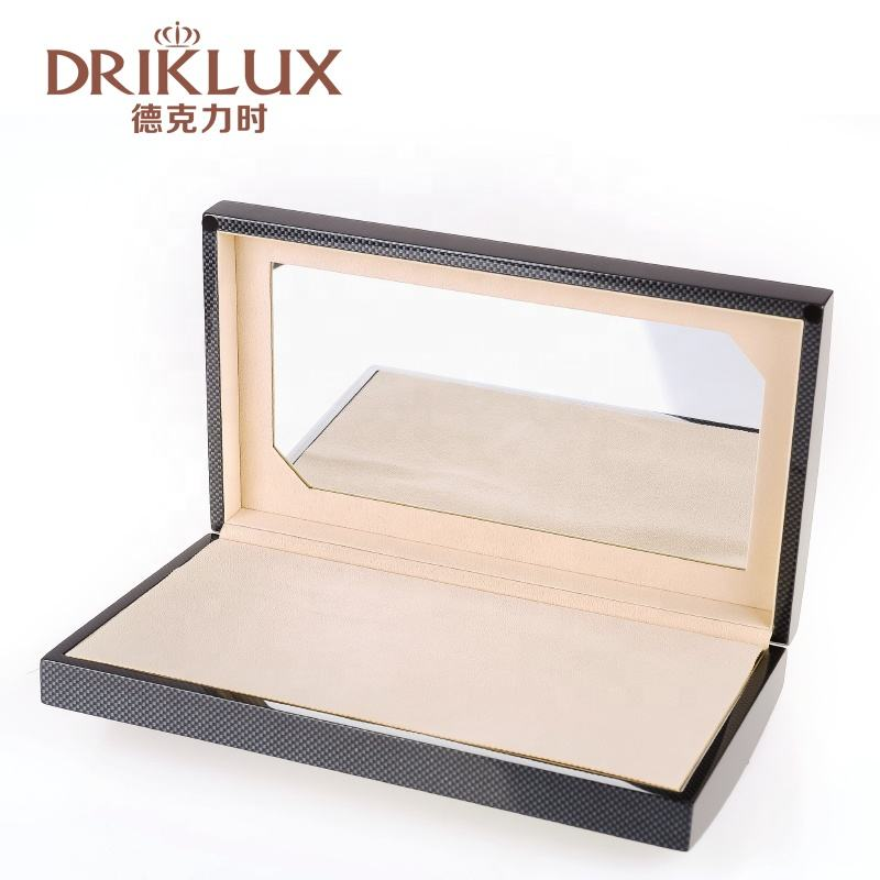 DRIKLUX 6 Pairs Leather Sunglasses Case Black Portable Eyeglasses Box Custom Logo Travel Glasses Packaging Box