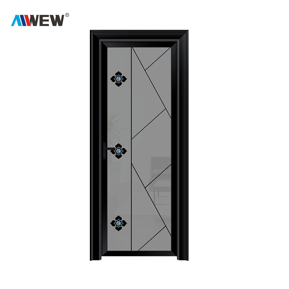Alwew aluminium narrow swing door interior door for kitchen / bathroom