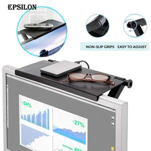 Epsilon Adjustable TV Computer Screen Top Storage Shelf Rack Holder Stand Set Top Box Storage with Guardrail Screen Top Shelf