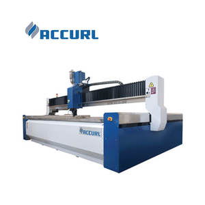Accurl high speed 5 axis Water Jet Cutting machine for cutting stainless steel, aluminium sheet and marble