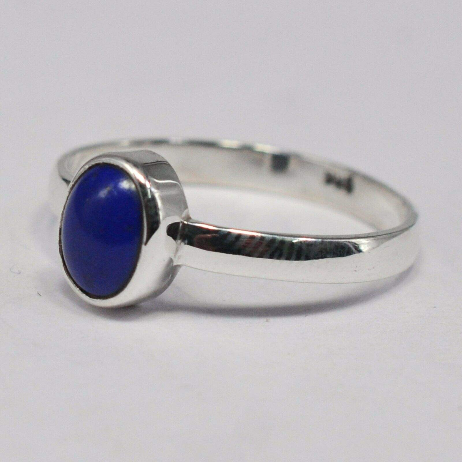 Sterling Silver Natural Afghanistan Lapis Lazuli Cut woman's Ring Jewelry Suppliers