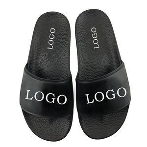 eva plain slide sandal,black pvc mens slide sandal custom logo slide sandal men slipper