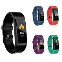 Shenzhen Factory Cheapest Smart Wristband Waterproof IP67 115 plus ID115 Activity Tracker Fitness Watch with Heart Rate Monitor