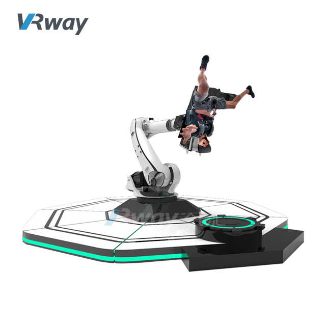 6dof Motion Platform 720 Degree Rotation Robotic Arm VR 360 Roller Coaster Simulator 9D Virtual Reality Other Amusement Park Pro