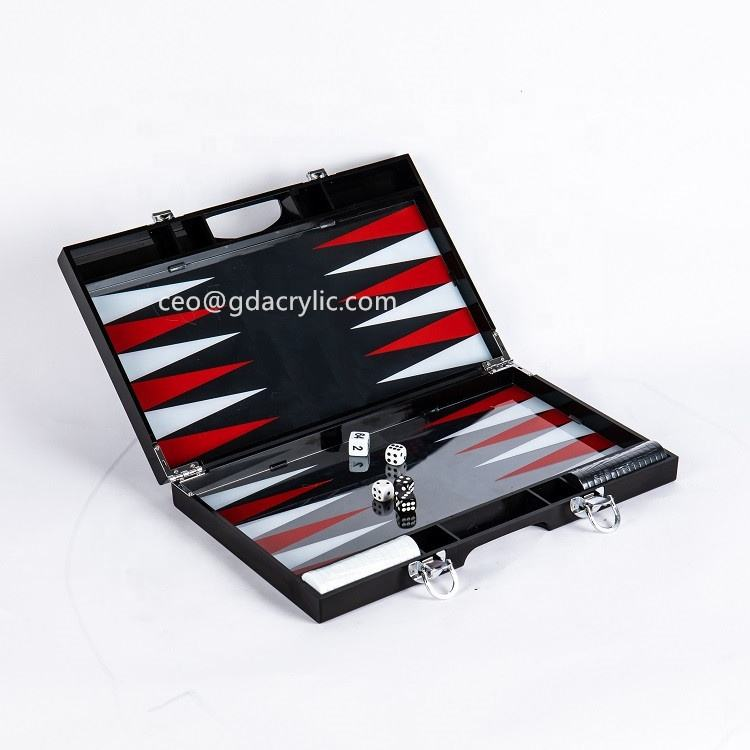 Mid Size Custom Zes Zijdige Verdubbeling Ontwerp Wit 16 Mm Backgammon Set Acryl Backgammon Met Chips En Dobbelstenen Set