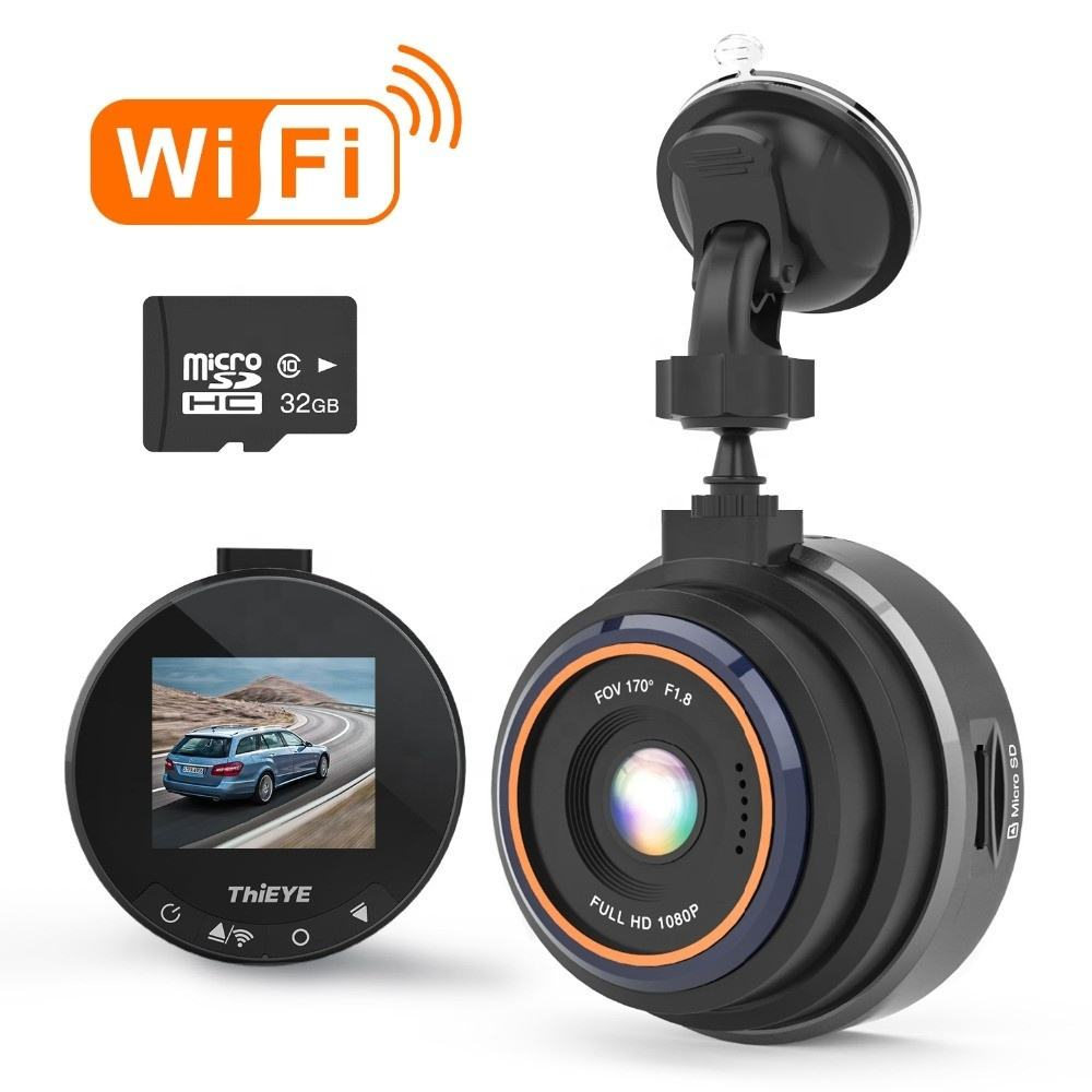 ThiEYE Dash Cam Safeel Zero + 170 Degree Wide Angle Mini Dashcam WiFi APP Control G Sensor 1080P Car Camera DVR Car Black Box