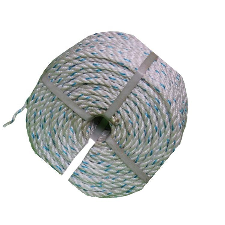 Recomen Polyester and mixed UHMWPE core rope 16mm ships ropes for sale