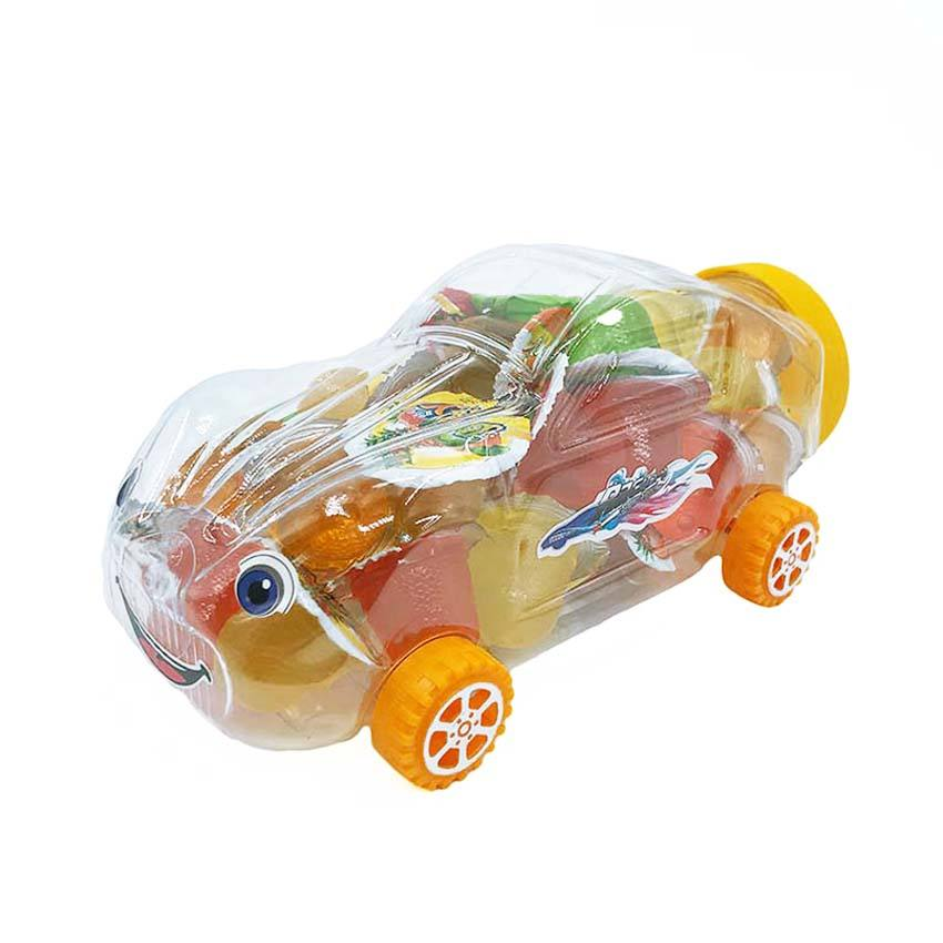 Cartoon Auto Vorm Diverse Fruitsmaak Jelly Pudding Candy In Auto Jar