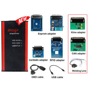 Iprog+ Pro Odometer Correction tool Mileage Adjustment Car Airbag Reset Tool with IR MB Adapter CAN Adapter Key Programmer