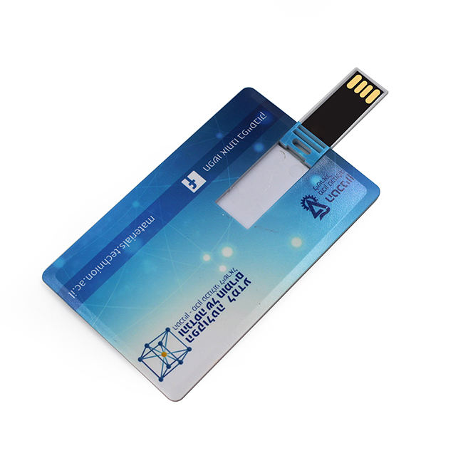 Bulk Promotion Gift Business Card Full Color Printing Logo 2.0 3.0 Card USB Flash