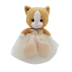 Plush 28cm or customized valentine gifts cat with skirt plush toy