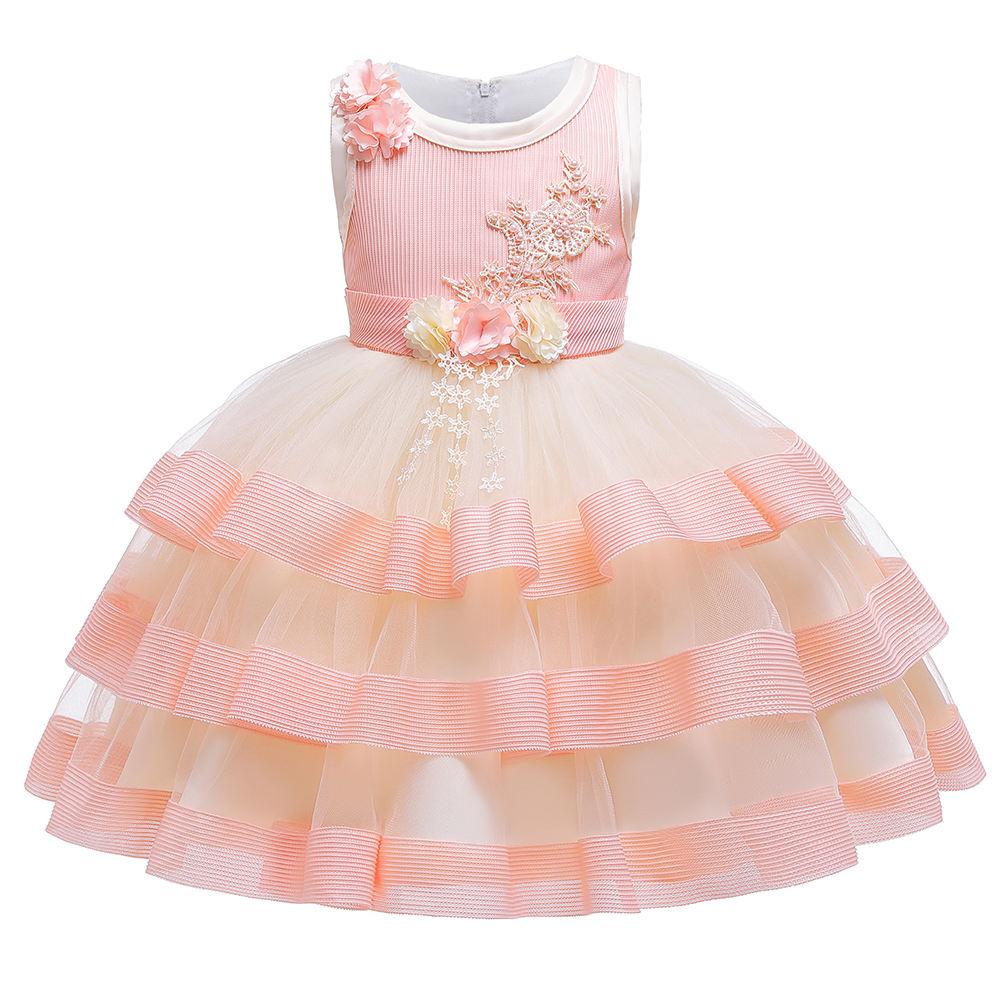 Lisin Children Kids Baby Girls Skirt,Show Dance Party Flower Princess Gauze Tutu Skirt
