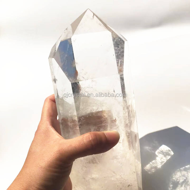 Natural Large Clear Quartz Rock Crystal Healing Points for Decoration