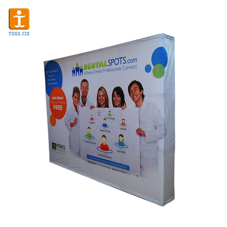 Big discount Aluminum Tradeshow Exhibition Display Fabric Wall Pop Up Display Stand Portable Popup Banner
