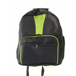 Fashion travel black and green backpack