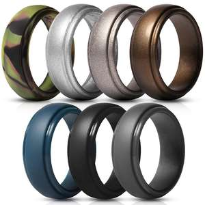 Custom Color 8.3mm Finger Silicone Ring Rubber Wedding Ring For Men And Women