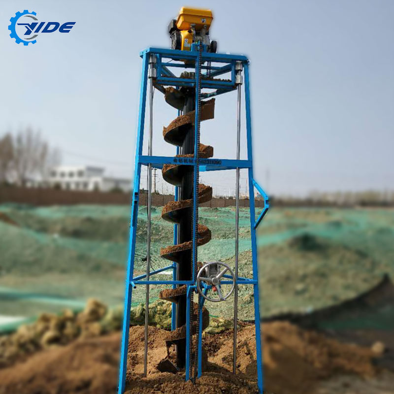 Four-stroke high horsepower earth auger drilling rig machine with wheels