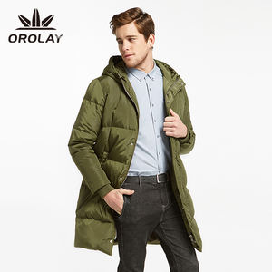Orolay Original Army Green Men's Winter Warm Quilted Down Jacket