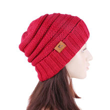 Winter Chunky Soft Knit Slouchy Beanie GTOP Brand Labled  Ski Cap Women Man Winter Warm Knit Beanie MXM-117A