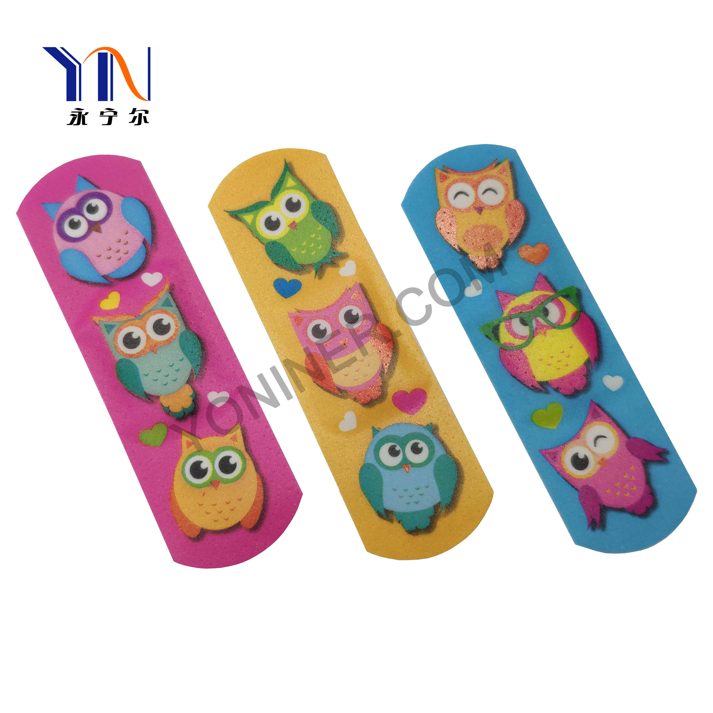 Punched PE Adhesive Plaster Customized Cartoon Adhesive strips