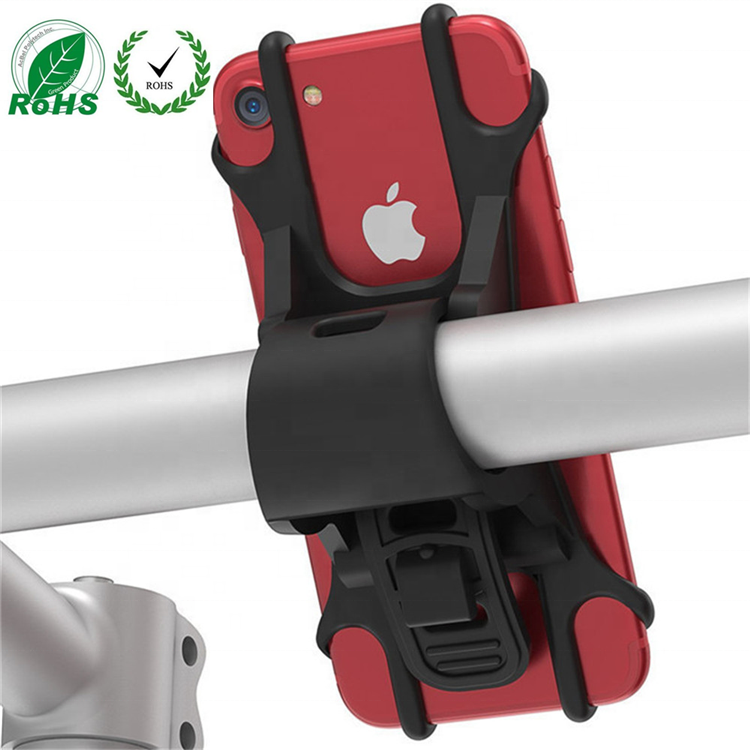 Original Universal Patent Shock-proof Silicone Bike Bicycle Cell Phone Holder Mount